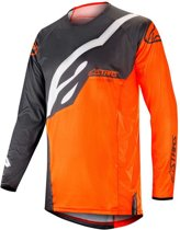 Alpinestars Crossshirt Techstar Factory Anthracite/Fluor Orange-S