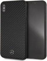 Mercedes-Benz Backcover hoesje Zwart - Real Carbon - iPhone Xs Max