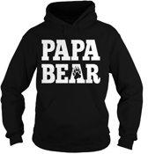 Hoodie sweater   Papa Bear   Black   Maat XXL