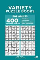 Variety Puzzle Books for Adults - 400 Easy to Master Puzzles 9x9