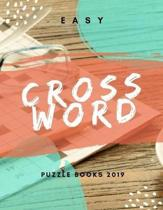 Easy Crossword Puzzle Books 2019