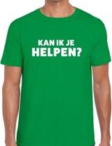Kan ik je helpen beurs/evenementen t-shirt groen heren L