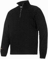 Snickers Zip Sweater - 2813 - zwart - maat L
