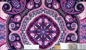 Fotobehang Purple Ethnic Pattern   VEXXL - 312cm x 219cm   130gr/m2 Vlies