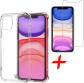 iPhone 11 Hoesje + Screenprotector Case Friendly - Shockproof Case Transparant Cover - iCall