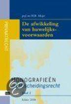 Monografieen (echt)scheidingsrecht 2 - De afwikkeling van huwelijksvoorwaarden