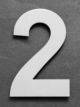 Grote RVS Huisnummers | Hoogte 25cm XXL Nummer 2