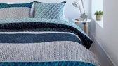 Beddinghouse Miles Flanel - Dekbedovertrek - Lits-jumeaux - 240x200/220 cm + 2 kussenslopen 60x70 cm - Blue