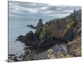 Arnarstapi op het IJslandse schiereiland in Europa Aluminium 80x60 cm - Foto print op Aluminium (metaal wanddecoratie)