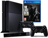 Sony PlayStation 4 Console 500GB + 2 Wireless Dualshock 4 Controllers + The Last Of Us: Remastered + Camera - Zwart PS4 Bundel