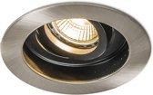 QAZQA Rondoo - Inbouwspot - 1 lichts - 104 mm - staal