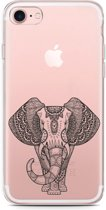 iPhone 7 Hoesje Elephant Mandala Black