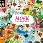 Boek cover Moek gaat op wereldreis met de fiets van M. Boutavant
