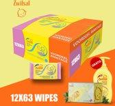Zwitsal Sensitive Vochtige Doekjes 12x63 - 12 Multipack + Gratis Zwitsal Zeepvrije Wasgel 400ml