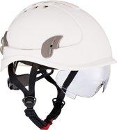 Cerva Alpinworker Lichte Bouwhelm Veiligheidshelm met veiligheidsbril – wit