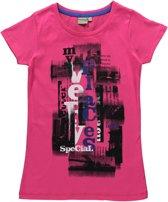 Blue Seven Meisjes T-shirt - Wit - Maat 152