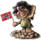 NyForm Trollen: Troll Standing On A Rock, Hoog 13cm