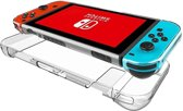 Shop4 - Nintendo Switch - Harde Bescherm Case Transparant