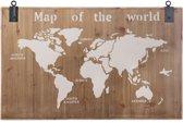 Houten Wereldkaart - Map of the World - Hout - 118x78cm