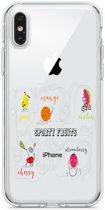 Apple Iphone 6 Plus / 6S Plus Transparant siliconen hoesje (Sporty fruits)