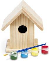 BS Toys Schilderbaar Vogelhuisje - Hout - 13 cm