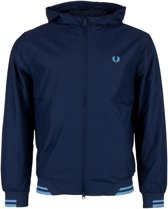 Fred Perry Tipped Hooded Sports Jas - Maat M  - Mannen - Blauw
