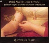 Quatuors D'Apres Les Sonates Pour Piano De Beethov