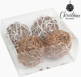 Kerstballen Wit Goud (4 pcs) by Homania