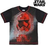 T-Shirt met Korte Mouwen voor kinderen Star Wars 1262 Zwart (maat 4 jaar)