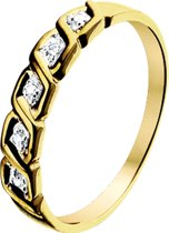 The Jewelry Collection Ring Diamant 0.022 Ct. - Geelgoud (14 Krt.)