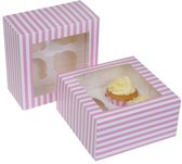 House of Marie Cupcake Box 4 -Circus Pink- pk/2