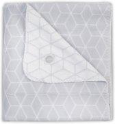 Jollein Deken 75x100cm Graphic grey Deken 75x100cm Graphic Grey
