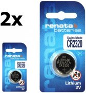 2 Stuks Swiss Made CR2320 Renata lithium knoopcel batterij