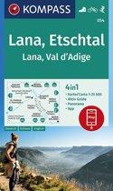 Kompass WK054 Lana, Etschtal, Val d'Adige