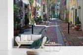 Fotobehang vinyl - Historische huizen bij het Washington Square West in Philadelphia breedte 420 cm x hoogte 280 cm - Foto print op behang (in 7 formaten beschikbaar)
