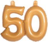 Opblaascijfer 50 Goud stk