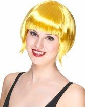 Korte gele pruik voor vrouwen - Verkleedpruik