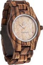 WoodWatch | CORE Zebrahout 36mm | Houten horloge