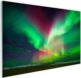 Schitterend noorderlicht boven IJsland Glas 30x20 cm - Foto print op Glas (Plexiglas wanddecoratie)