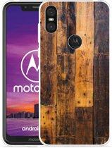 Motorola One Hoesje Special Wood
