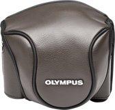 Olympus CSCH-118 lederen tas bruin voor Stylus 1