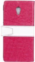 Contrast Color roze wallet case hoesje Vodafone Smart prime 7