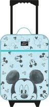 MICKEY MOUSE Go For It Trolley Koffer Handbagage Vakantie Tripjes Logeren Kinderkoffer