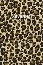 Savanna: Personalized Notebook - Leopard Print (Animal Pattern). Blank College Ruled (Lined) Journal for Notes, Journaling, Dia