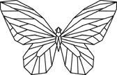 Vlinder Geometrisch Hout 80 x 51 cm - Zwart - Wanddecoratie
