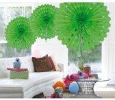 5x Decoratie waaier lime groen - 45 cm