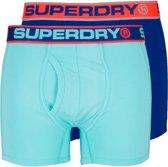 Superdry Onderbroek - Maat M  - Mannen - lichtblauw/donker/blauw/oranje