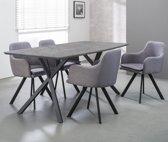 Meer Design Eettafel Mundil Grijs 160cm