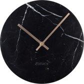 Zuiver - Clock Marble Time Black - Klok - Zwart