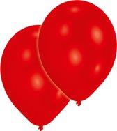 Amscan Ballonnen Metallic Rood 10 Stuks 28 Cm